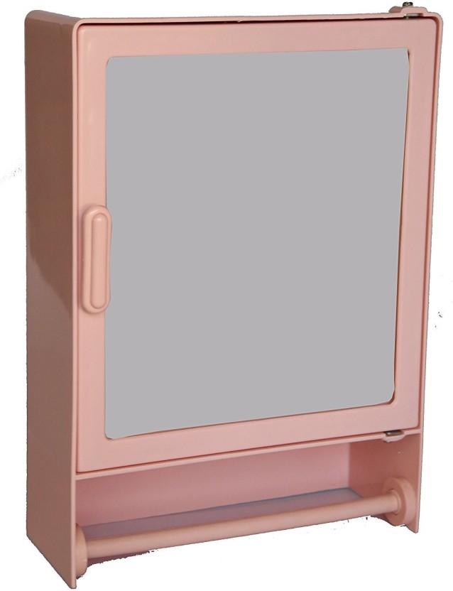 Zoom Happy Bathroom Mirror Cabinet (Rod) Plastic Mirror Storage Chest  (35.56 X 10.6