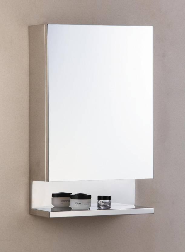 Cipla Plast New Look Stainless Steel Bathroom Cabinet Wall Shelf