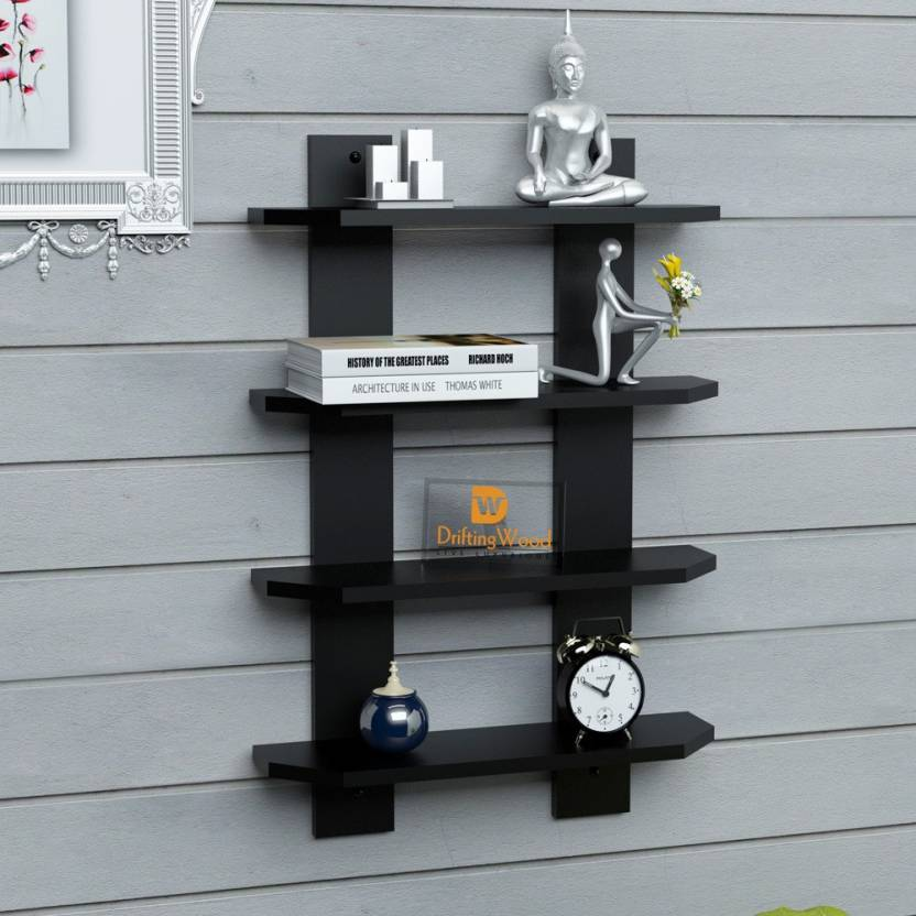 Driftingwood Ladder Shape Mounted 4 Tier Rack Shelves Shelf High Quality Wooden Home Decor Wall