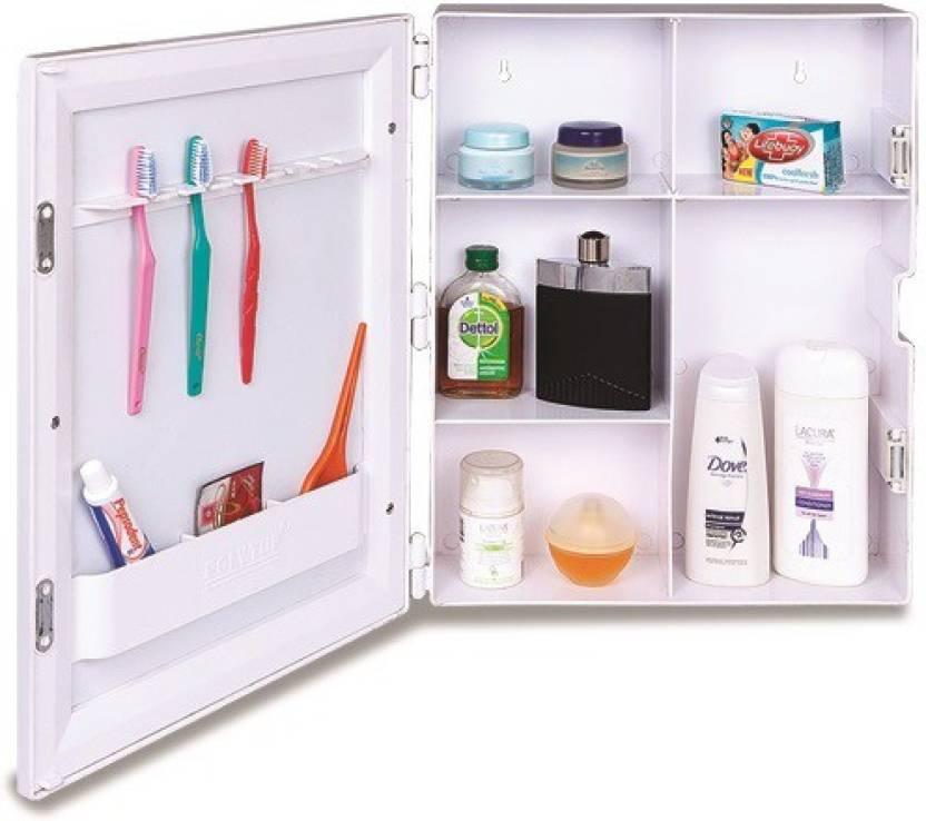 Polytuf Multi Utility Mirror Cabinet Plastic Wall Shelf Price In