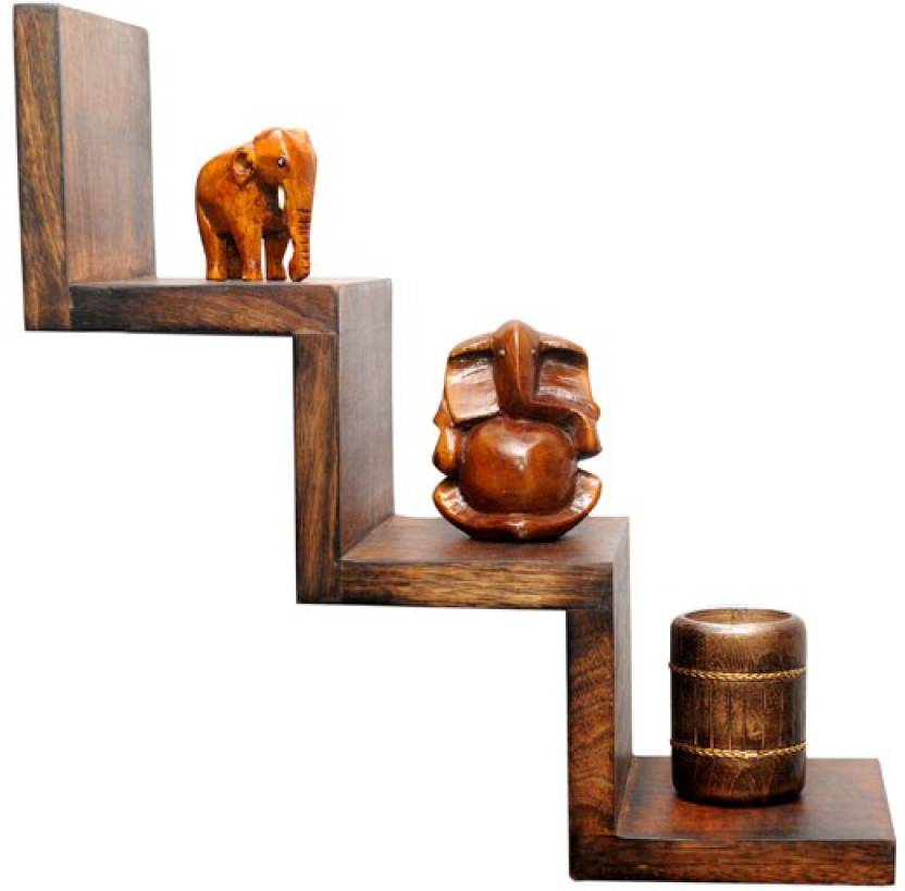 Indian Handicrafts Company Wooden Wall Shelf Price In India Buy