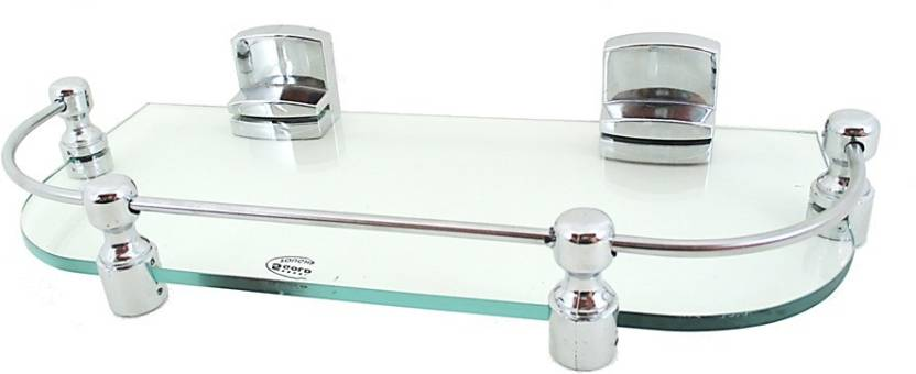 RoyaL Indian Craft 12 By 5 Inch RIC517 New Look Glass Wall Shelf Number of Shelves   1, Clear