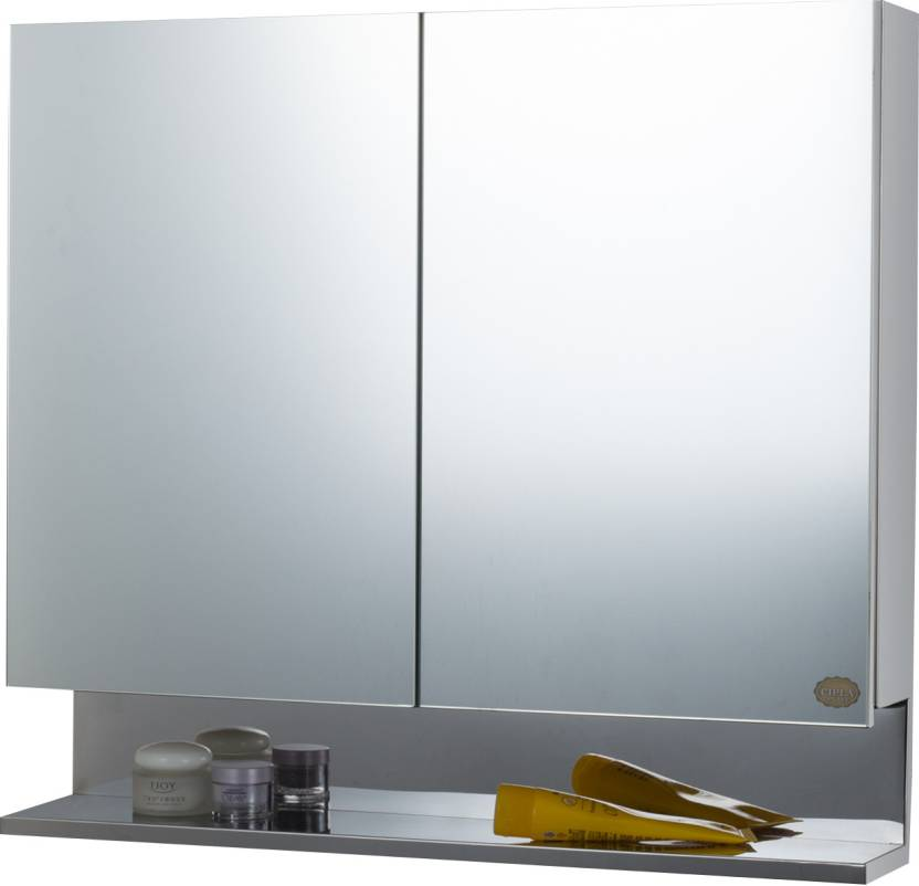 Cipla Plast Double Door Stainless Steel Bathroom Cabinet Stainless