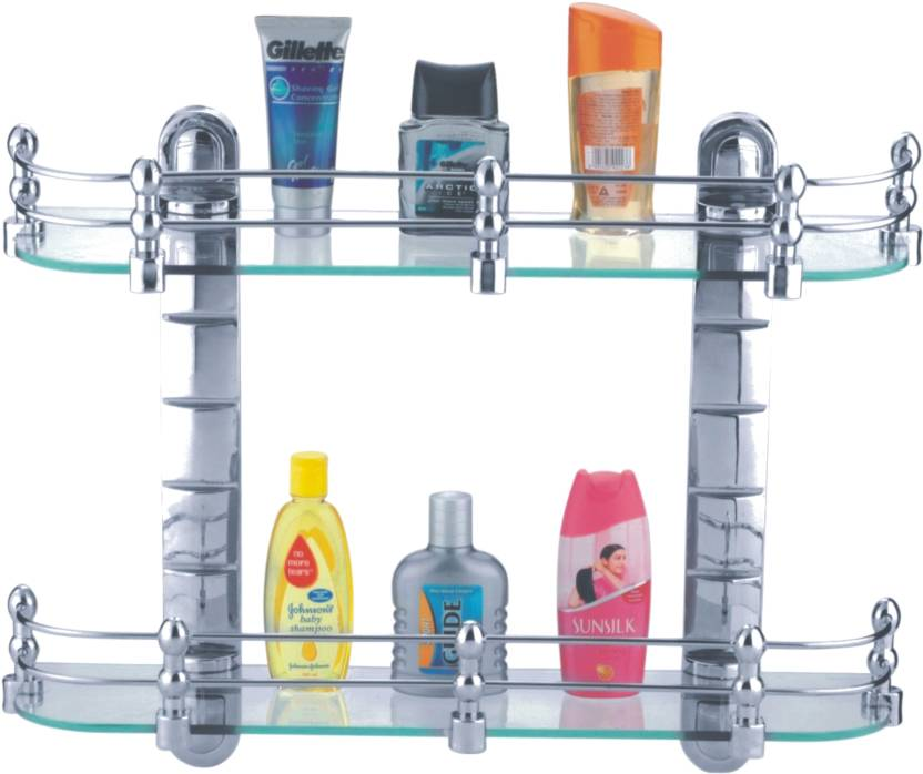 Bathroom Gl Set Wall Shelf