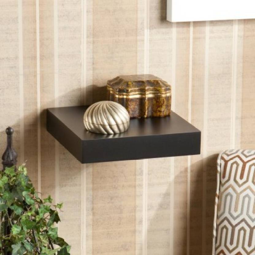 The New Look Mw21ablack Wooden Wall Shelf Number of Shelves   1, Black
