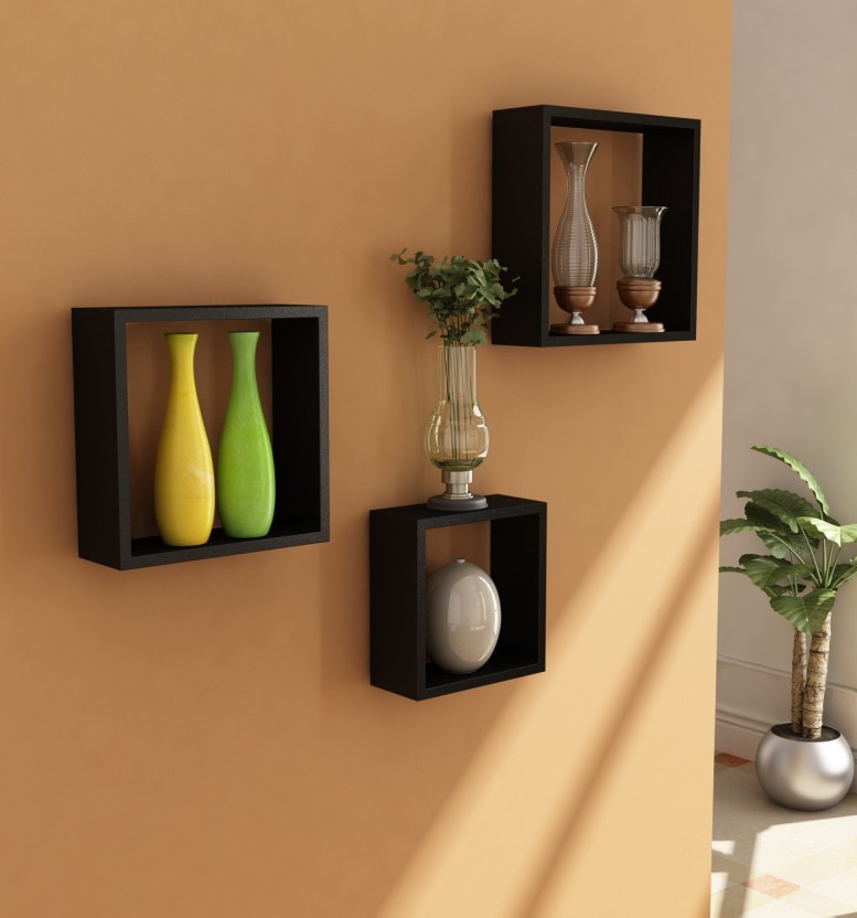Home Sparkle Wooden Wall Shelf
