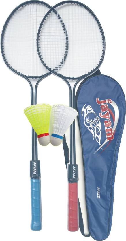 Jayam Speed (2 Racket + 2 Shuttle + Bag) G3 Strung Badminton Racquet (Multicolor, Weight - 350 g)