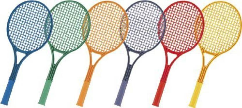 Champion Sports Plastic Tennis Racquet Set G4 Strung Tennis Racqu...