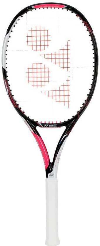 Yonex EZONE Ai Lite Black and Pink Tennis Racquet G4 Strung Tenni...