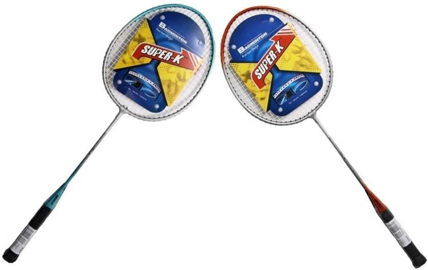 Super-K Ferroalloy G4 Badminton Racquet (Red, Blue, Weight - 400)