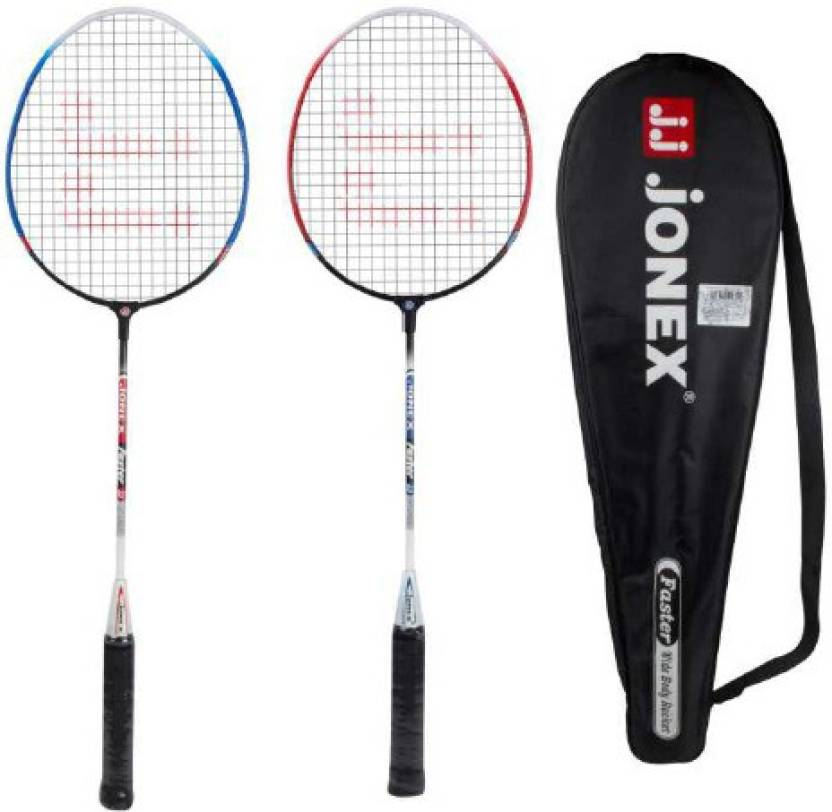 JJ JONEX BADMINTON SET OF 2 FASTER Strung Badminton Racquet (Multicolor, Weight - 220 g)
