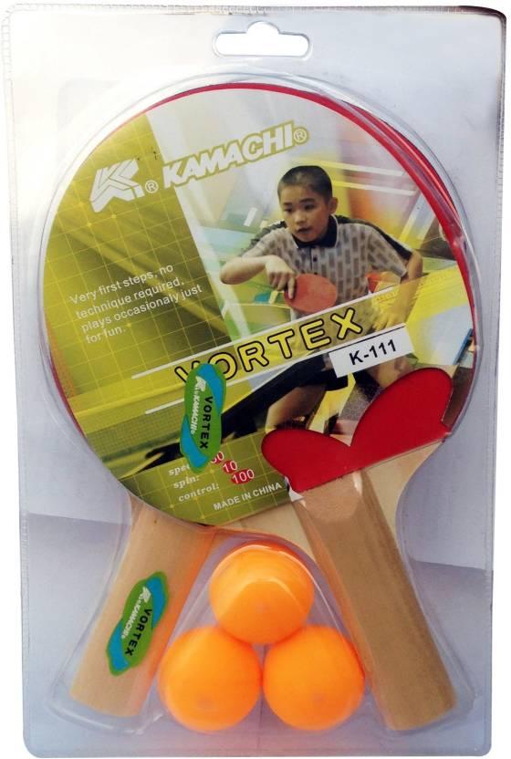 Kamachi Combo 2 T.T. Bats + 3 T.T.Balls G4 Unstrung Table Tennis ...