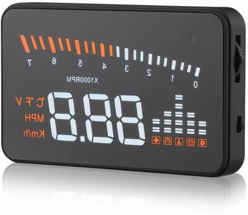 F2s X5 3 0-inch Automatic OBD II Universal Car HUD Fuel icon Head Up