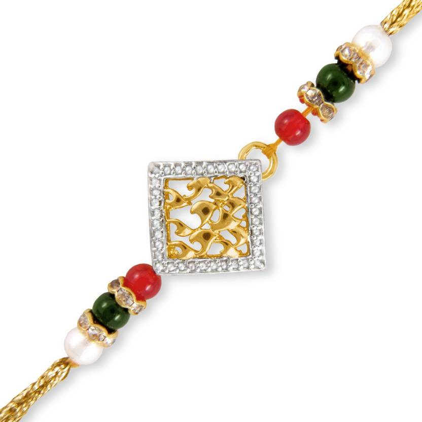 Mahi Golden Square Design Designer Rakhi