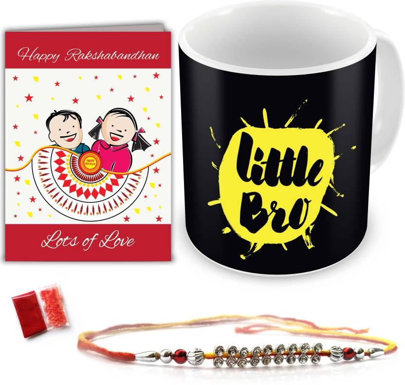 indibni Designer Rakhi  (1 Rakhi, 1 Coffee Mug, 1 Roli Chawal Packet, 1 Greeting Card)- 84% OFF