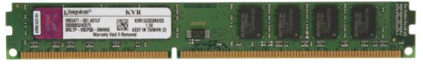 Kingston ValueRAM DDR3 2 GB PC DRAM (KVR1333D3S8N9/2G)