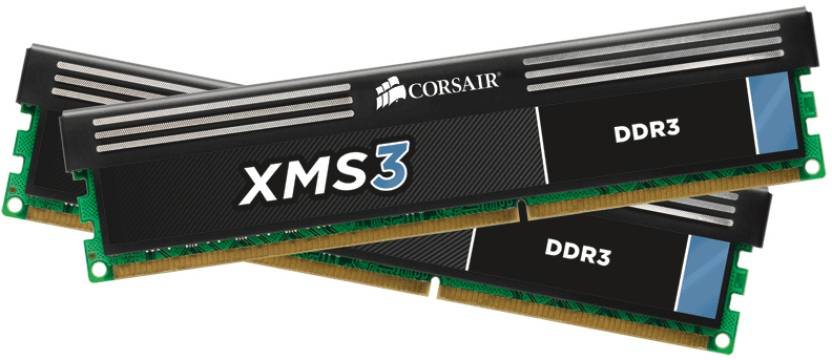Corsair XMS3 DDR3 8 GB (Dual Channel) PC DRAM (CMX8GX3M2A1600C9)