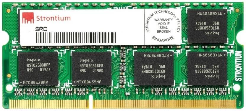 Strontium DDR3 2 GB Laptop RAM (SRT2G88S1-H9H/SRT2G86S1-H9H)