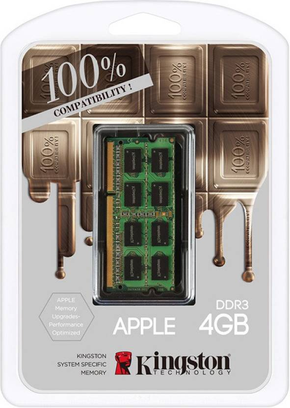 Kingston Dominator DDR3 4 GB (Dual Channel) Laptop DRAM (Mac Memory 4GB DDR3L-1600(PC3-12800) SO-DIMM 1.35V (KTA-MB1600L/4GFR))