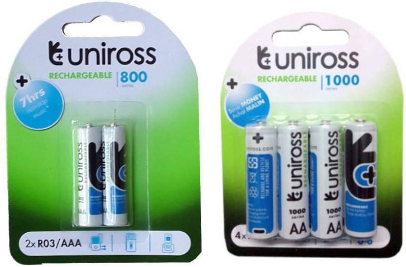 Uniross 4aa2aaa Rechargeable Ni Mh Battery Uniross Flipkartcom