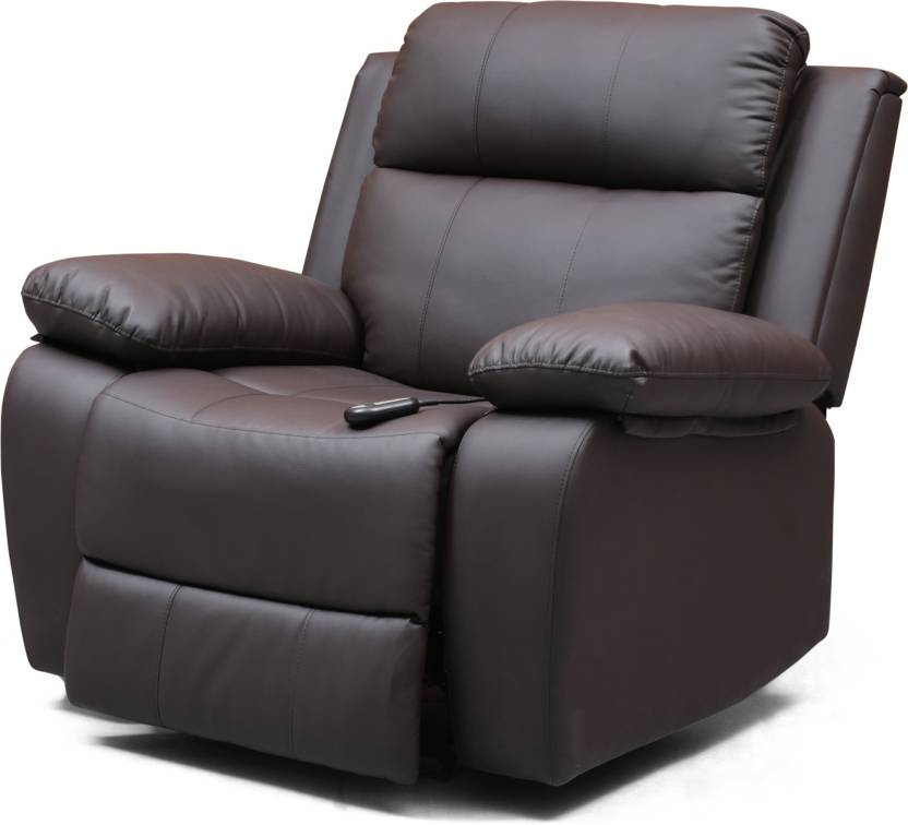 0647827bbe Urban Ladder Robert Motorized Leatherette Powered Recliners (Finish Color -  Chocolate Brown)