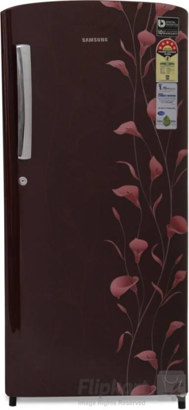 Samsung 192 L Direct Cool Single Door 5 Star Refrigerator(Tender Lily Red, RR19K173ZRZ/HL)