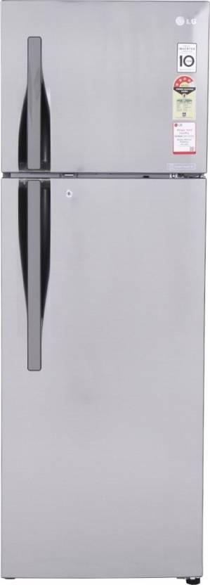 LG 260 L Frost Free Double Door Refrigerator  (GL-I292RPZL, Shiny Steel)