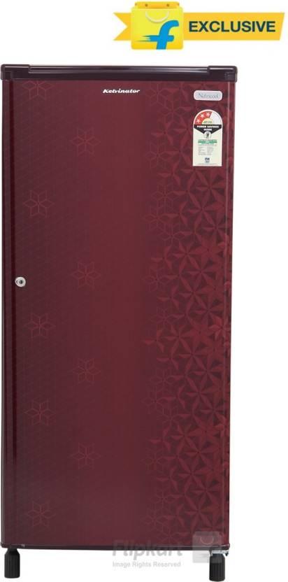 Kelvinator 190 L Direct Cool Single Door Refrigerator  (KW203EFYR/G, Geometry Red) By Flipkart @ Rs.8,989