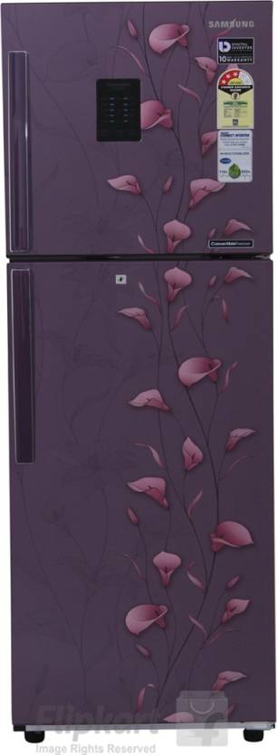 SAMSUNG 253 L Frost Free Double Door Refrigerator  (RT28K3953PZ, Tender Lily Purple)
