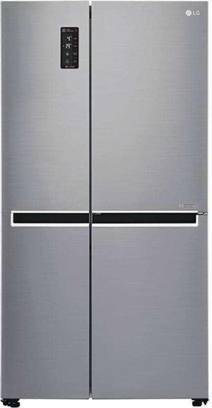 LG 687 L Frost Free Side by Side Refrigerator (Shiny Steel/Platinum Silver3, GC-B247SLUV)