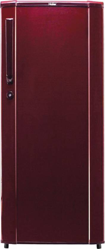 Haier 170 L Direct Cool Single Door Refrigerator (HRD-1905BR-H, Brushed Red)