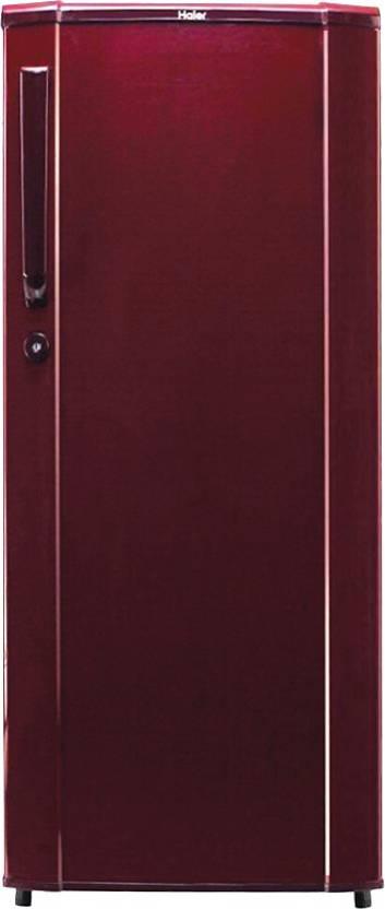 Haier 170 L Direct Cool Single Door Refrigerator (HRD-1905BR-H, Brushed Red)