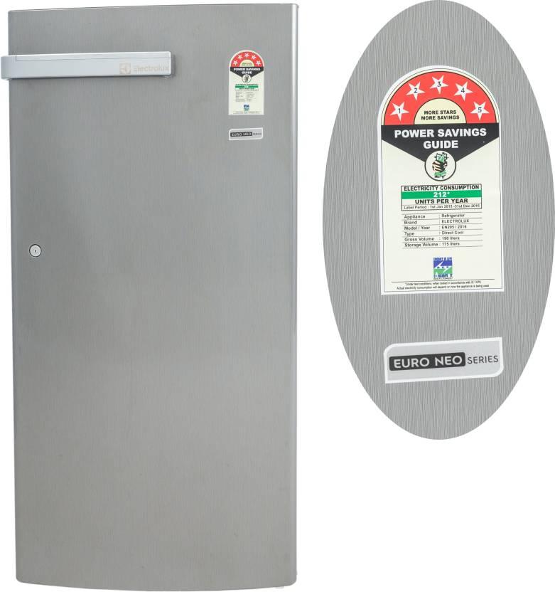 Electrolux 190 L Direct Cool Single Door Refrigerator  (EN205PTSV, Silver VCM) By Flipkart @ Rs.12,590