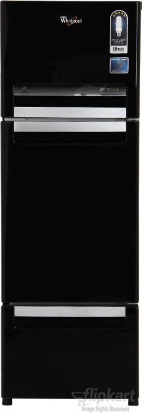 Upto 25% Off On Frost Free Whirlpool 3 Door Refrigerators By Flipkart | Whirlpool 240 L Frost Free Triple Door Refrigerator  (FP 263D PROTTON ROY, Mirror Black) @ Rs.24,490