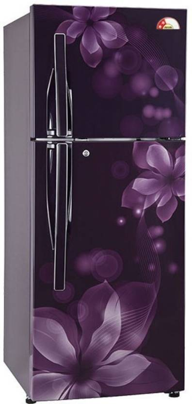 LG 255 L Frost Free Double Door Refrigerator  (GL-Q282RPOY, Purple Orchid, 2017)