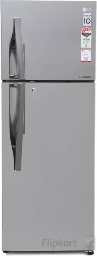 LG 284 L Frost Free Double Door Refrigerator  (GL-I302RPZL, Shiny Steel, 2016)