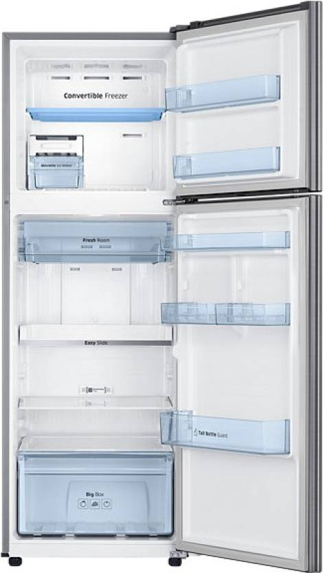 Samsung 345 L Frost Free Double Door 3 Star Refrigerator(Elegant Inox, RT37K3753S8/HL)