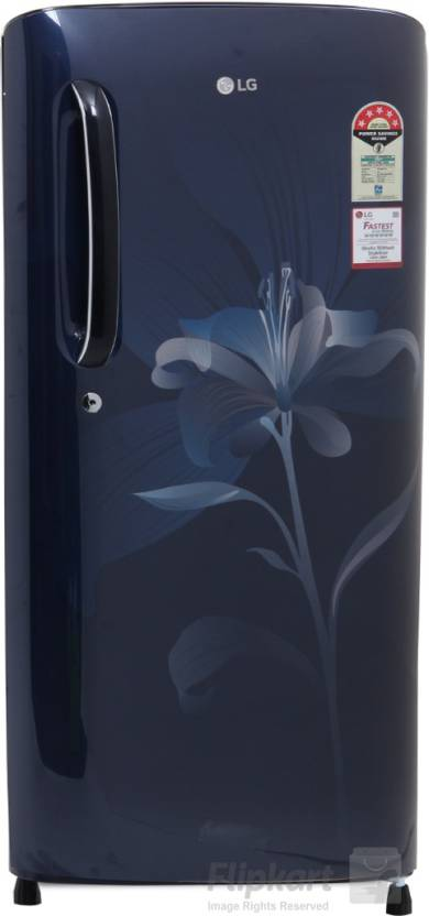LG 190 L Direct Cool Single Door Refrigerator  (GL-B201AMLN, Marine Lily)