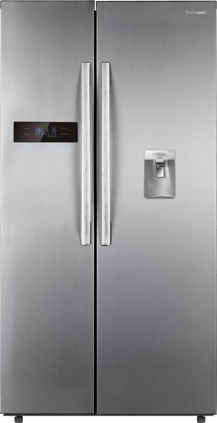 Panasonic 584 L Frost Free Side by Side Refrigerator  (NR-BS60DSX1, Stainless Steel, 2016)