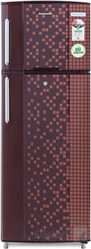 Kelvinator 235 L Frost Free Double Door Refrigerator  (KA242PMX, Maroon Pixel) By Flipkart @ Rs.17,790