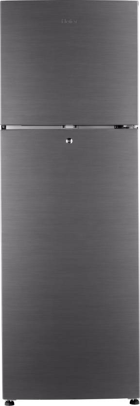 Haier 270 L Frost Free Double Door Refrigerator  (HRF-2904BS-R, Brushline Silver, 2016)