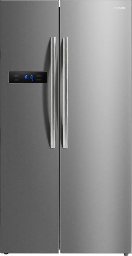 Panasonic 582 L Frost Free Side by Side Refrigerator  (NR-BS60MSX1, Stainless Steel, 2016)