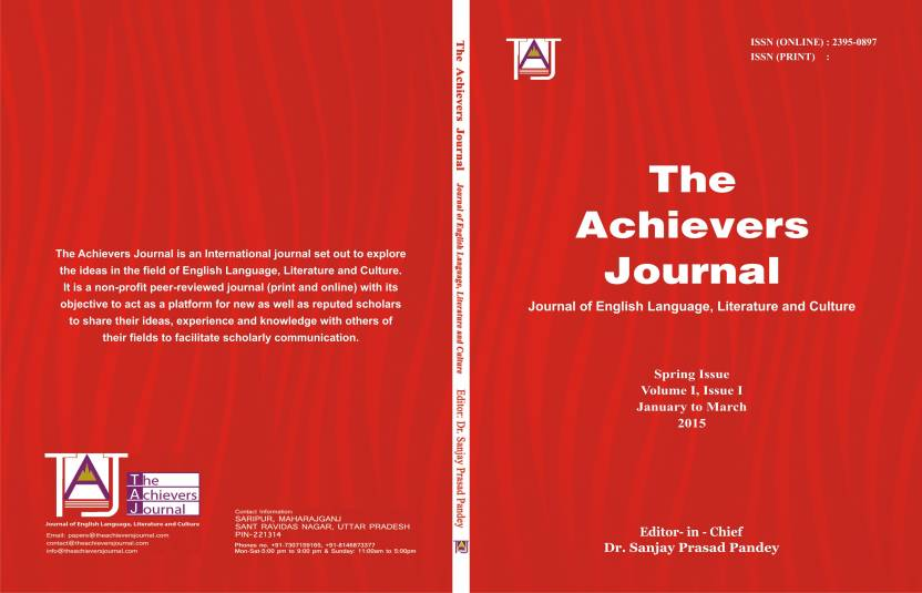 The Achievers Journal Vol 1 Issue 1