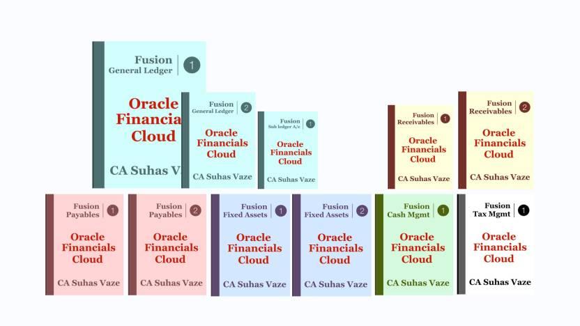 Oracle Fusion Financials (Financials Cloud) 11 VOL Book Set - BLACK-WHITE