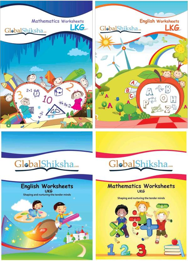Worksheets For LKG & UKG - Maths & English Price in India - Buy ...