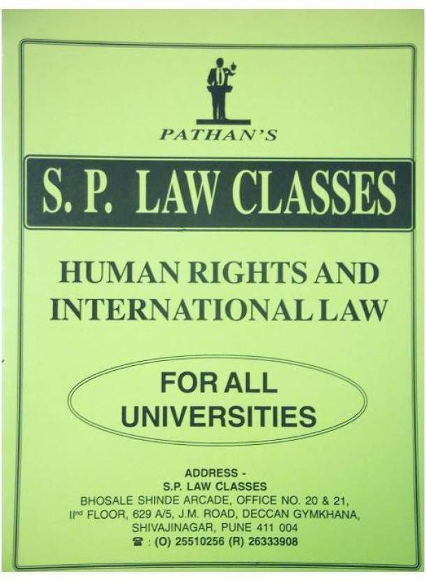 Pathan's S  P  Law Classes Notes On Human Rights And International