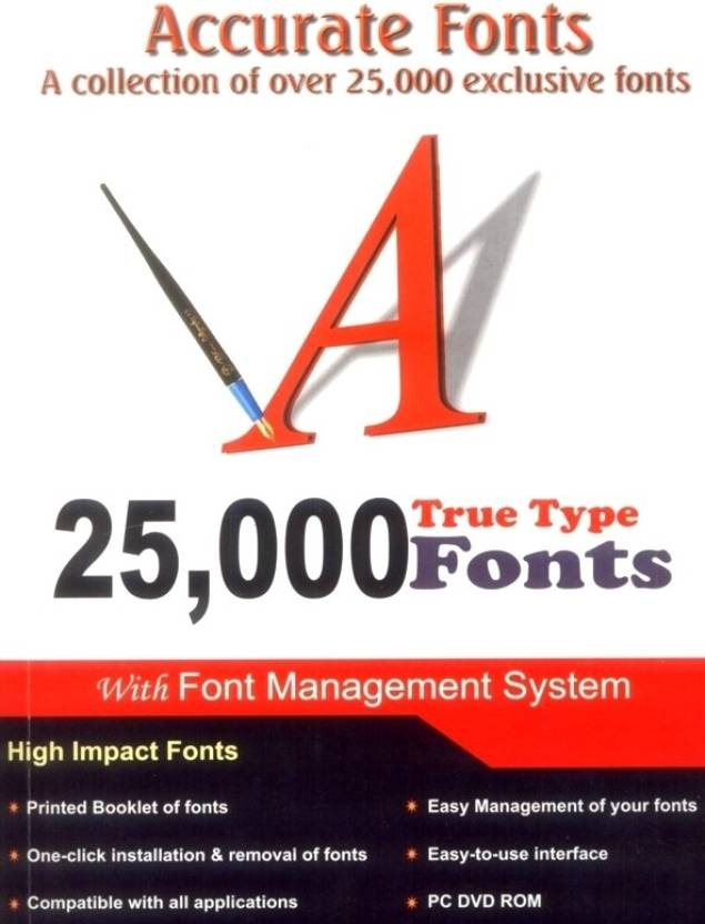25,000 Accurate Fonts (Book+DVD): Buy 25,000 Accurate Fonts
