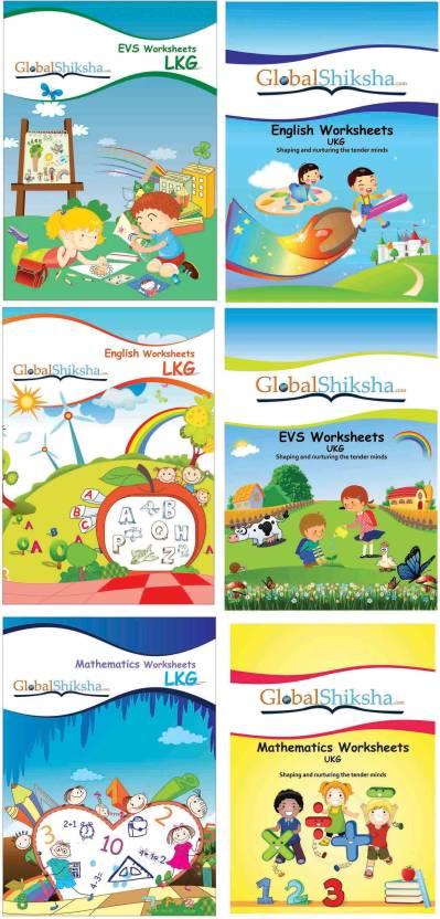 Worksheets For LKG & UKG - Maths, EVS, & English: Buy Worksheets For ...