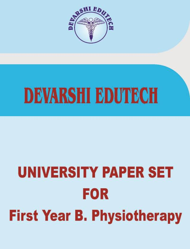 University Paperset For First Year B Physiotherapy: Buy