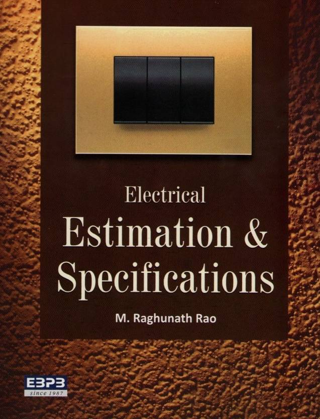 Electrical Estimation & Specification Price in India - Buy ...